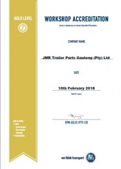 JMR Alrode Achieves BPW Gold Workshop Accreditation